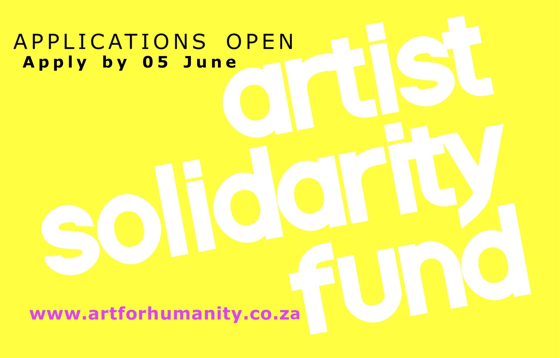 Artist Solidarity Fund: Call For Applications