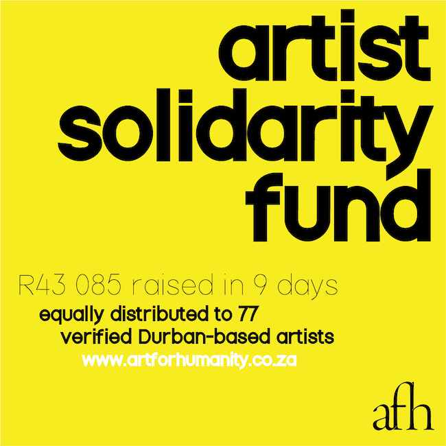 AFH Artist Solidarity Fund: May 2020